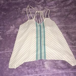 Tank Top Maurices Blue & White/Gray